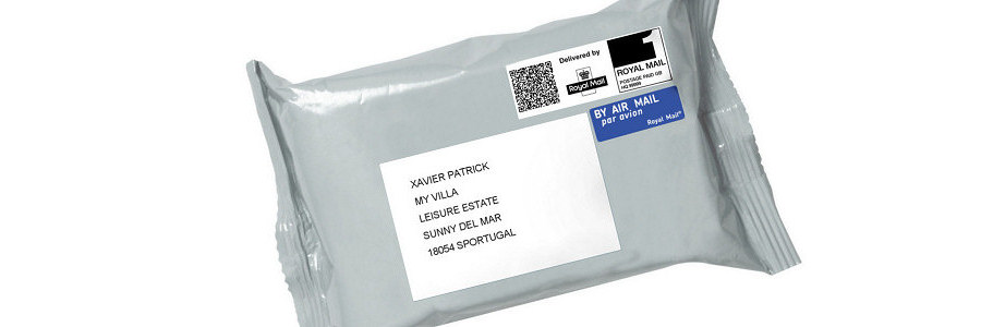 Tamperproof postal bag with forwarding address
