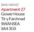 Example of a mailbox ID address - Apartment