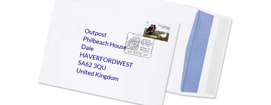 Example Outpost mail service address for expats